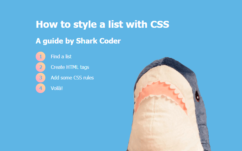CSS List Style: 20+ examples
