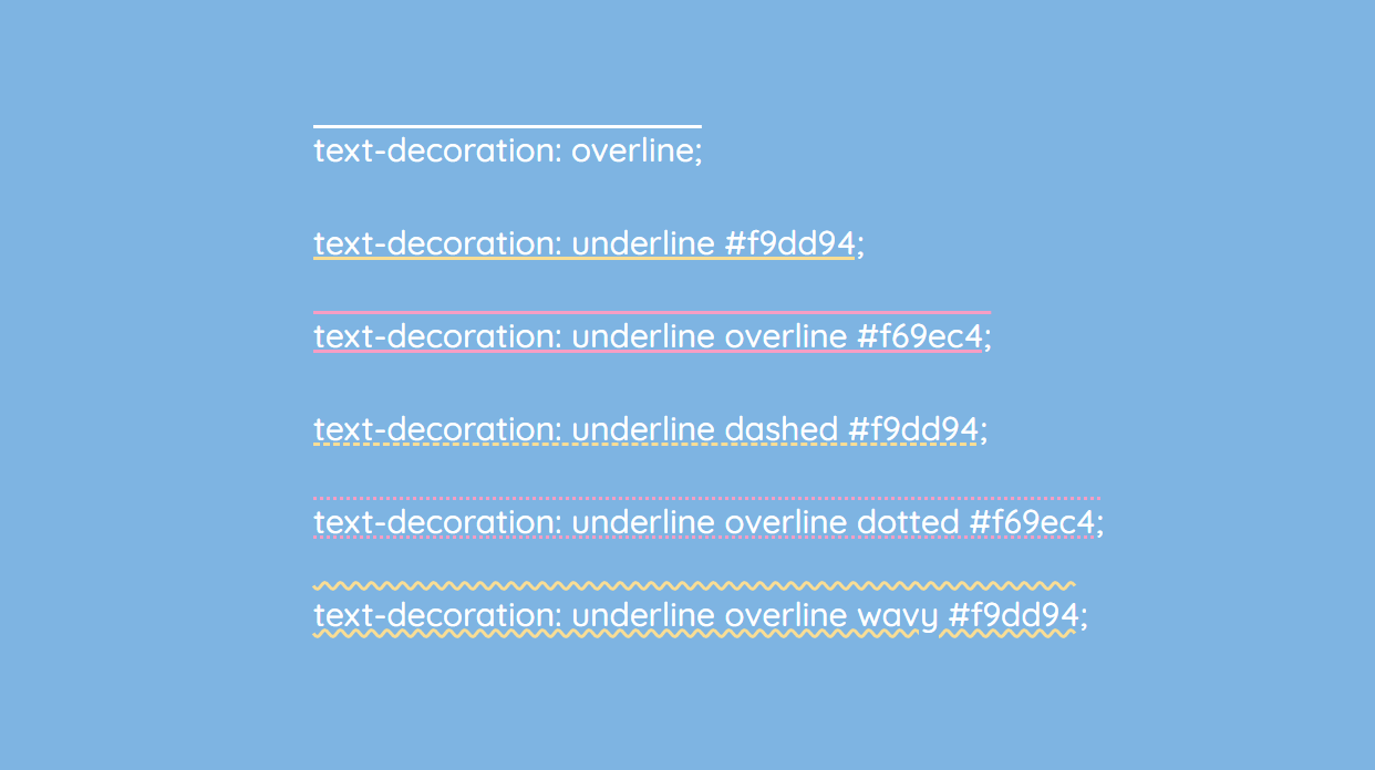 CSS text-decoration property